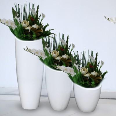 斜口弹头型玻璃钢花盆