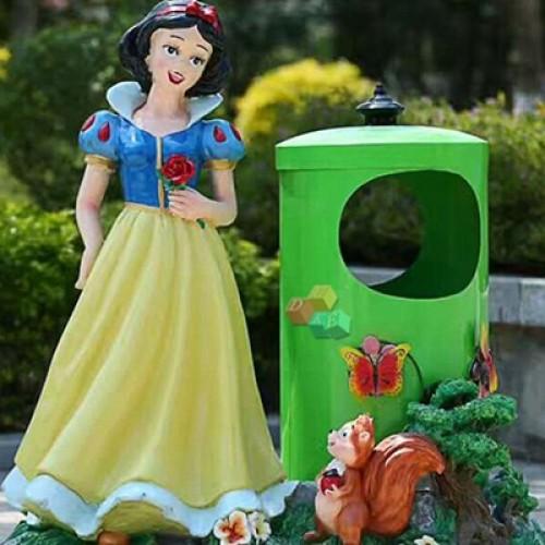 玻璃钢垃圾桶雕塑
