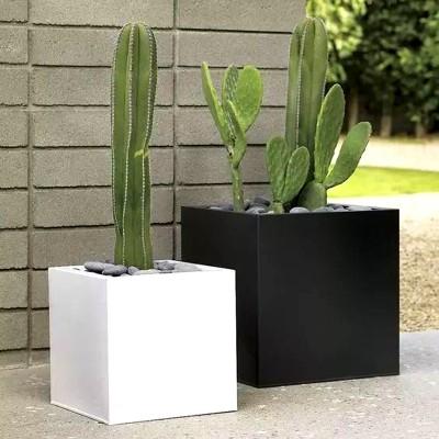 不锈钢方形花盆