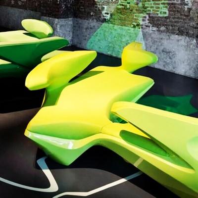 玻璃钢软包连体座椅