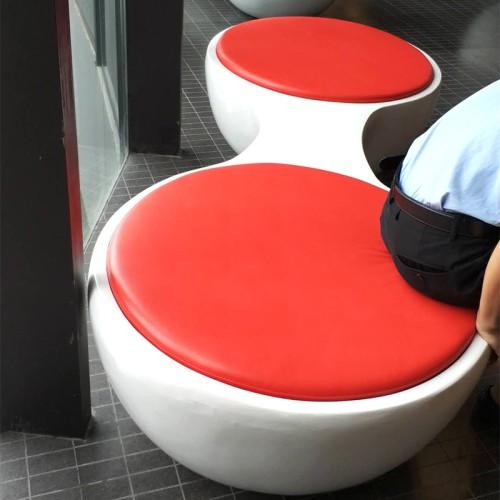 玻璃钢圆形连体坐凳