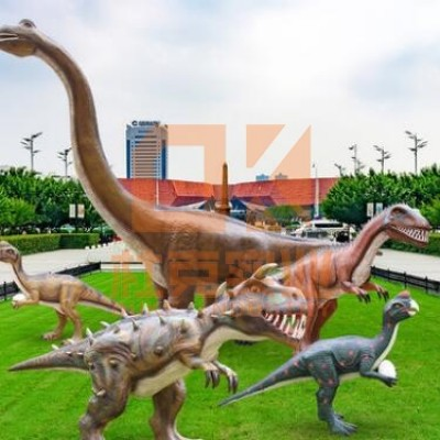 玻璃钢仿真恐龙雕塑