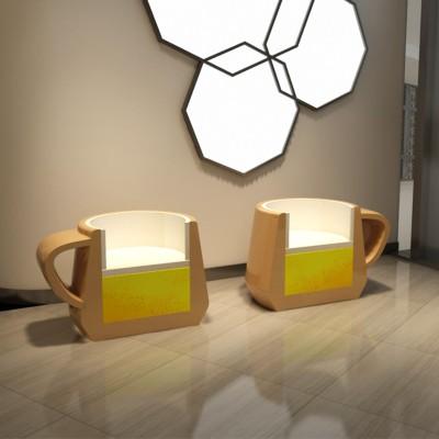 玻璃钢咖啡座椅
