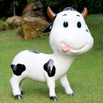 玻璃钢奶牛雕塑