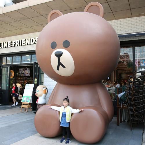 玻璃钢布朗熊雕塑