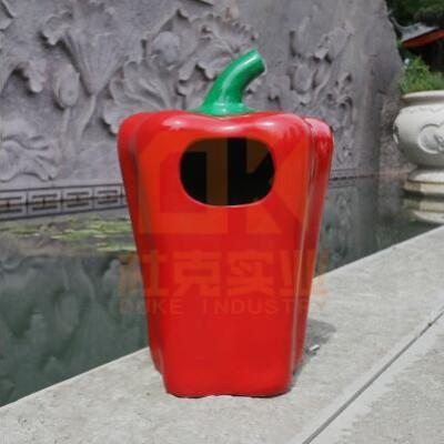 玻璃钢彩椒垃圾桶