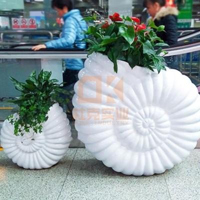 玻璃钢创意S形花盆