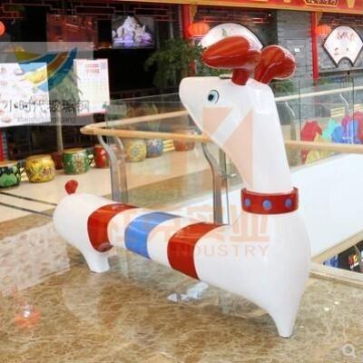 玻璃钢创意狗休闲椅
