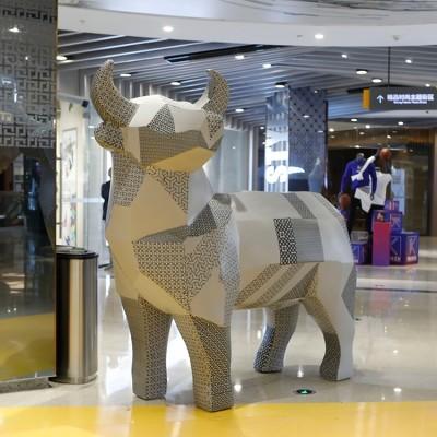 玻璃钢多边形拼接座椅