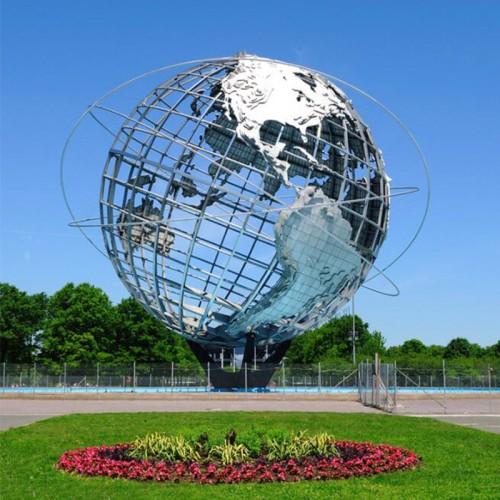 不锈钢地球雕塑
