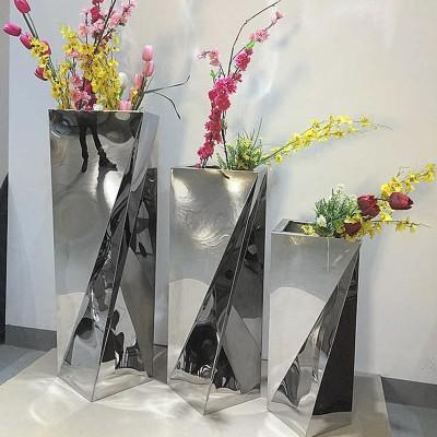 不锈钢不规则花器