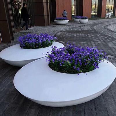 玻璃钢椭圆形花坛