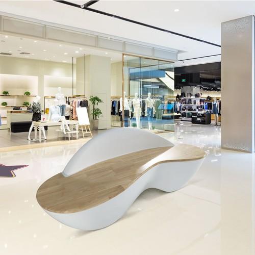 玻璃钢木艺结合座椅