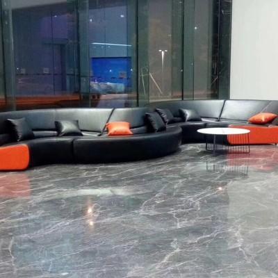 玻璃钢软包弯曲沙发