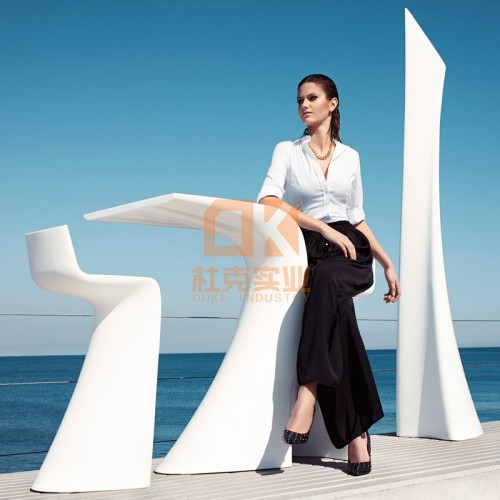 玻璃钢7型椅茶几