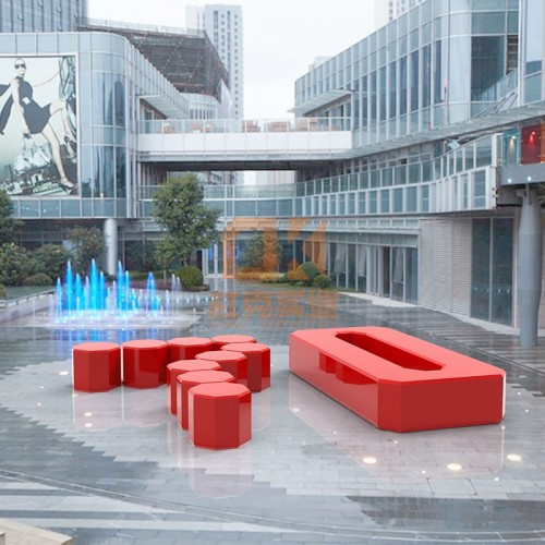 玻璃钢70周年坐凳