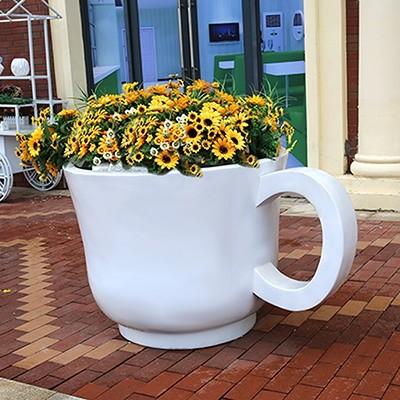 玻璃钢茶杯花盆