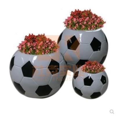 玻璃钢足球花钵组合