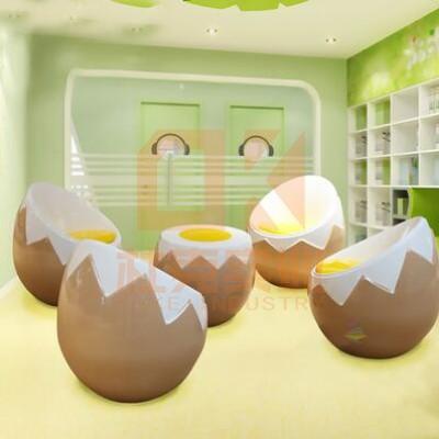玻璃钢鸡蛋壳茶几座椅