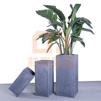 北欧长方形玻璃钢花盆
