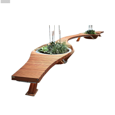 切片木艺景观坐凳