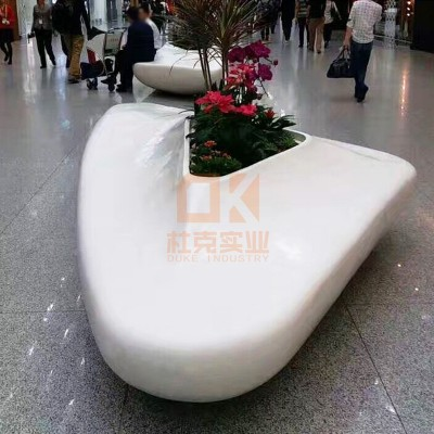 玻璃钢机场花盆座椅