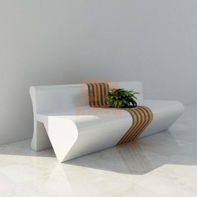 玻璃钢弧形座椅