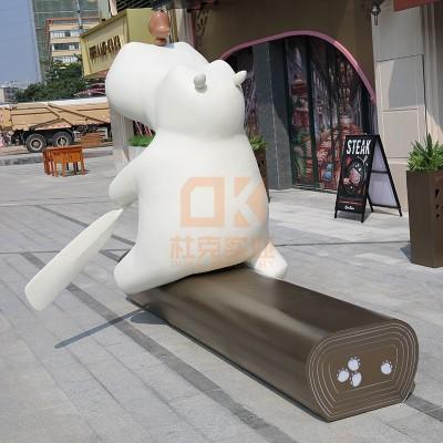 玻璃钢河马坐凳