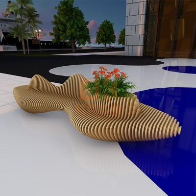 切片木艺休闲椅
