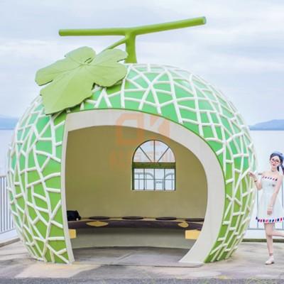 玻璃钢水果小屋造型雕塑