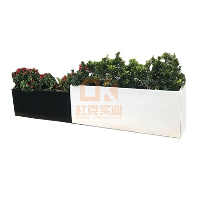 玻璃钢黑白组合花箱