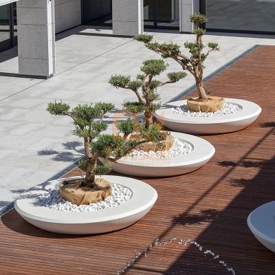 户外圆形玻璃钢树池坐凳