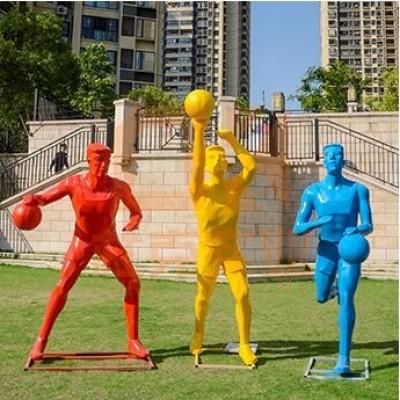 玻璃钢运动人物雕塑