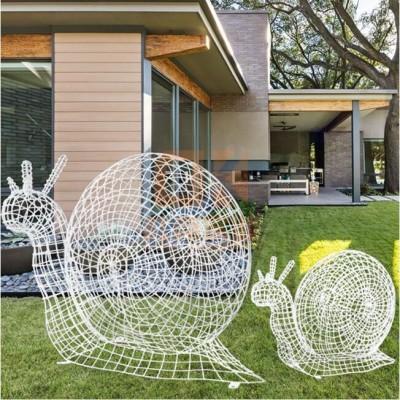 不锈钢镂空蜗牛雕塑