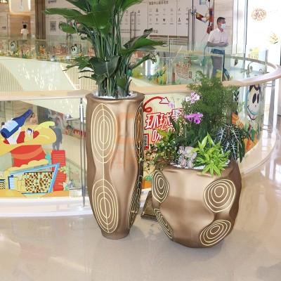 玻璃钢复古艺术商场花盆