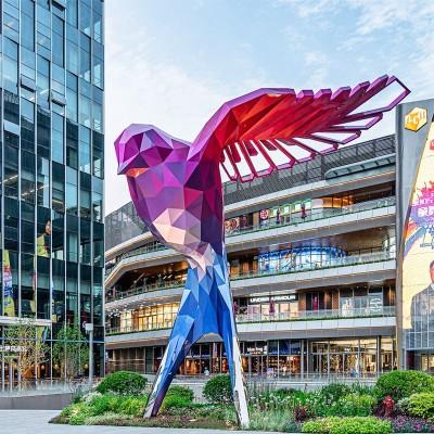不锈钢燕子动物雕塑