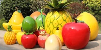 玻璃钢水果雕塑,玻璃钢生产厂家定制的那些水果雕塑!