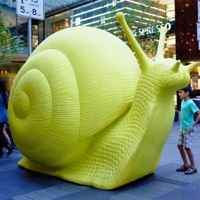 蜗牛雕塑玻璃钢户外景观摆件