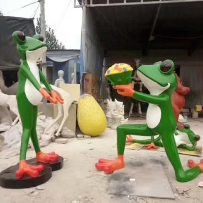 玻璃钢青蛙王子雕塑来了!