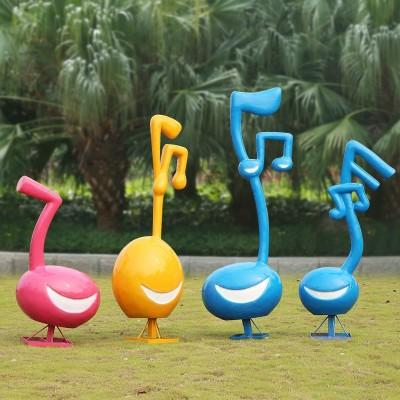 玻璃钢微笑音符雕塑,美好的一天从微笑开始!