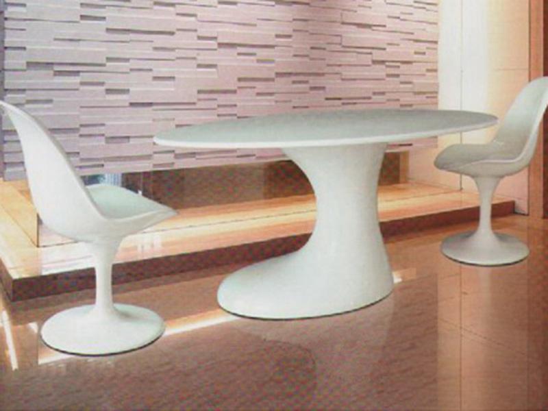 玻璃钢椭圆形茶几座椅
