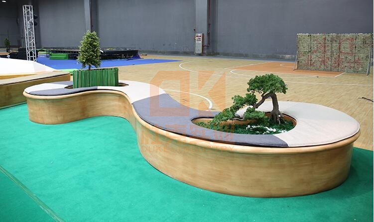 玻璃钢S形树池坐凳