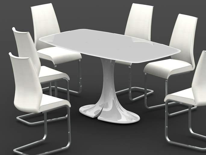 玻璃钢高档餐桌座椅
