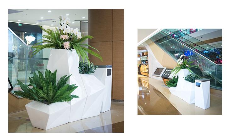 玻璃钢菱形花盆组合