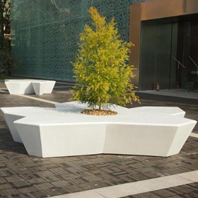 五角星玻璃钢树池座椅