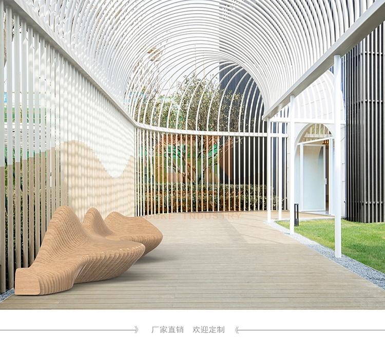 6米木艺美陈座椅