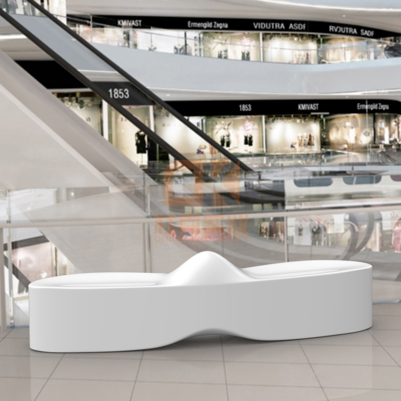 玻璃钢山水休闲椅,商业美陈休闲椅!
