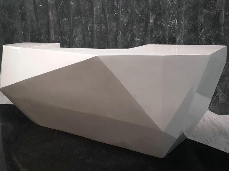 玻璃钢菱形前台