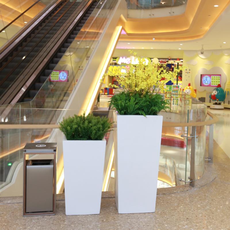 玻璃钢四方组合花盆,简约是永恒的主题!