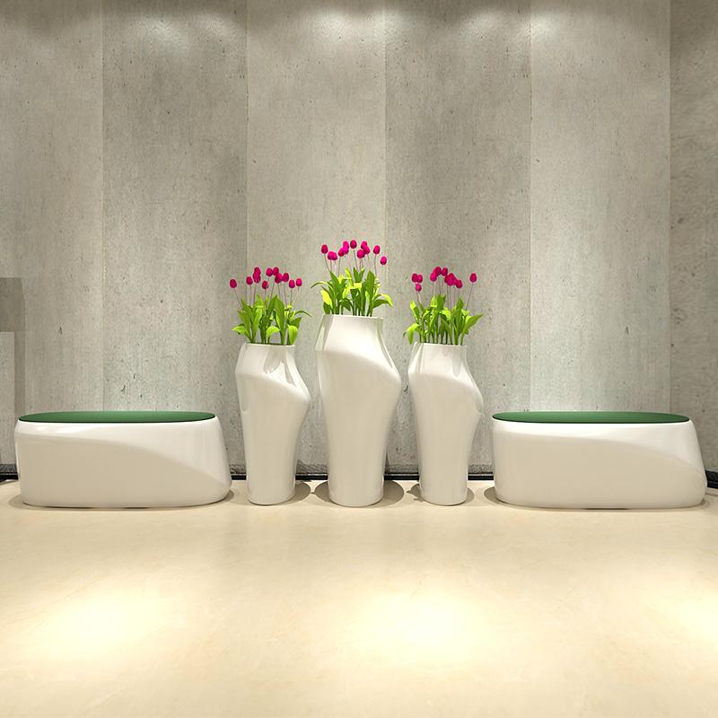 玻璃钢美人花器座椅组合,简约时尚美丽大方的代表作!